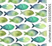 watercolor seamless pattern.... | Shutterstock . vector #1021020001