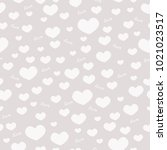 texture of hearts on grey... | Shutterstock .eps vector #1021023517
