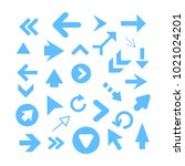 arrow icon set isolated on...