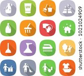 flat vector icon set   cleanser ... | Shutterstock .eps vector #1021024909
