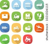 flat vector icon set   electric ... | Shutterstock .eps vector #1021026115