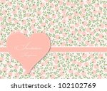 greeting card with roses and... | Shutterstock .eps vector #102102769