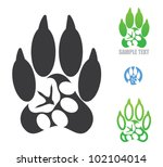 Stock vector animal footprint symbol vector 102104014