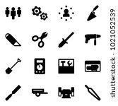 Solid Vector Icon Set   Group...