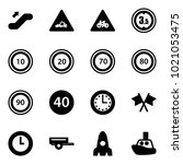 solid vector icon set  ...   Shutterstock .eps vector #1021053475