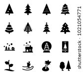 solid vector icon set  ... | Shutterstock .eps vector #1021054771