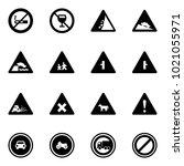 solid vector icon set   no... | Shutterstock .eps vector #1021055971