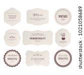 set of premium label for design ... | Shutterstock .eps vector #1021058689