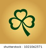 icon of a green clover close up ... | Shutterstock .eps vector #1021062571