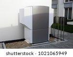 heat pump on a residential home | Shutterstock . vector #1021065949