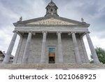 a catholic church at longford...   Shutterstock . vector #1021068925