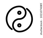 yin yang icon. outline modern... | Shutterstock .eps vector #1021074085
