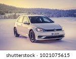 ivalo  finland   february 4 ... | Shutterstock . vector #1021075615