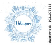 outline udaipur india city... | Shutterstock .eps vector #1021075855