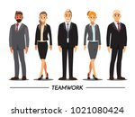 business people teamwork ... | Shutterstock .eps vector #1021080424