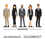 business people teamwork ... | Shutterstock .eps vector #1021080427