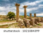 assos ancient city in turkey | Shutterstock . vector #1021084399