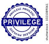 grunge blue privilege round... | Shutterstock .eps vector #1021089061