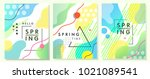 unique artistic spring cards... | Shutterstock .eps vector #1021089541
