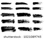painted grunge stripes set.... | Shutterstock .eps vector #1021089745