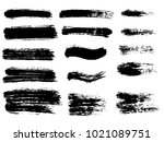 painted grunge stripes set.... | Shutterstock .eps vector #1021089751