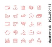 money thin line icon set... | Shutterstock .eps vector #1021090495