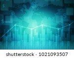 3d rendering stock market...   Shutterstock . vector #1021093507