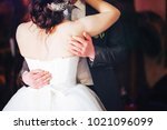 wedding dance of wedding couple.... | Shutterstock . vector #1021096099