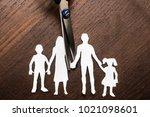 divorce and child custody... | Shutterstock . vector #1021098601