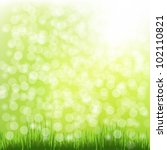 nature background with grass... | Shutterstock .eps vector #102110821