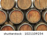 Wine Casks At The Winery....