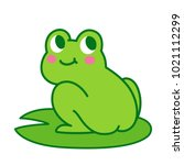 cute cartoon frog butt drawing. ... | Shutterstock .eps vector #1021112299
