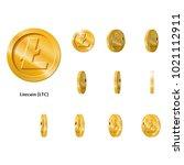 gold rotate litecoin frames set ...