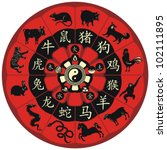 Chinese Zodiac Wheel With Sign...