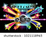night party dancing clubbing... | Shutterstock .eps vector #1021118965