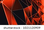 multifaceted geometric... | Shutterstock . vector #1021120909