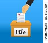 voting vector illustration. | Shutterstock .eps vector #1021122505