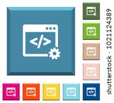 web development white icons on... | Shutterstock .eps vector #1021124389