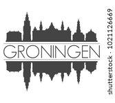 groningen netherlands skyline...   Shutterstock .eps vector #1021126669
