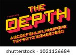 the depth vector decorative... | Shutterstock .eps vector #1021126684
