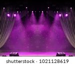 scene  stage light with colored ... | Shutterstock . vector #1021128619
