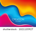 fluid colorful shapes... | Shutterstock .eps vector #1021135927