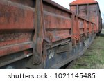 Old Rusty Railway Car.