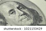 100 dollar bill with president... | Shutterstock . vector #1021153429