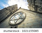 basilica of the national vote... | Shutterstock . vector #1021155085