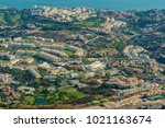 costa del sol seen from the top ... | Shutterstock . vector #1021163674
