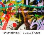 beautiful street art. abstract... | Shutterstock . vector #1021167205