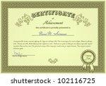 certificate of success | Shutterstock .eps vector #102116725