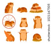 Cute Cartoon Hamster Character...