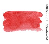 red abstract watercolor brush... | Shutterstock .eps vector #1021168801